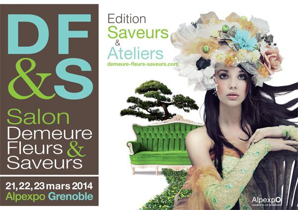 Affiche Demeure Fleurs et Saveurs 2014 - Grenoble